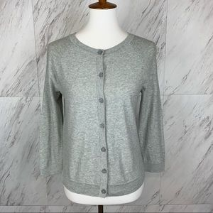 Ann Taylor LOFT Gray Long Sleeve Sweater Catdigan